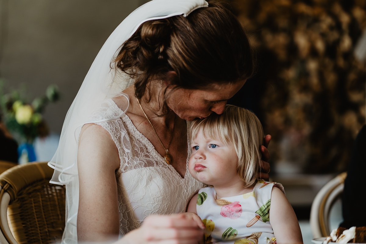 bride with doughter